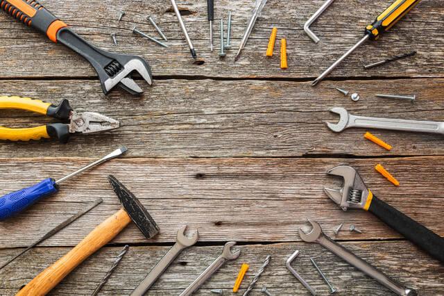 必要な道具(工具たくさん)